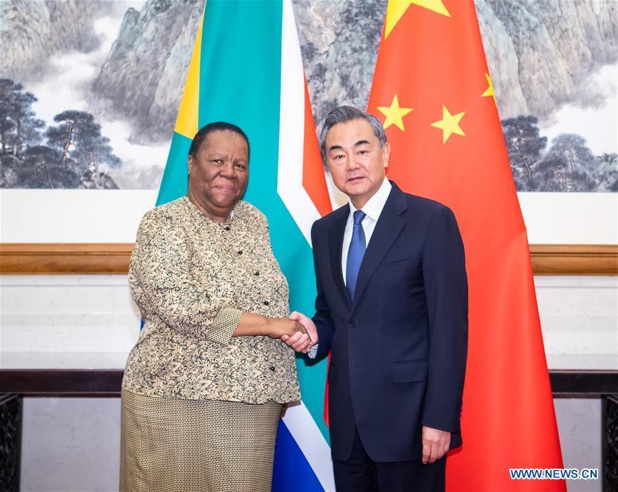 CHINA-BEIJING-WANG YI-SOUTH AFRICA-FM-MEETING (CN)